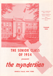 Page 5, 1954 Edition, Mynderse Academy - Myndersian Yearbook (Seneca Falls, NY) online yearbook collection