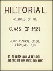 Page 5, 1951 Edition, Hilton Central School - Hilltorial Yearbook (Hilton, NY) online yearbook collection