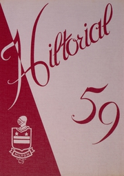 1959 Edition, Hilton Central School - Hilltorial Yearbook (Hilton, NY)
