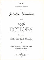 Page 5, 1956 Edition, Hamburg High School - Echoes Yearbook (Hamburg, NY) online yearbook collection