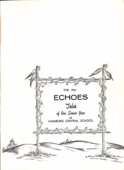 Page 5, 1961 Edition, Hamburg High School - Echoes Yearbook (Hamburg, NY) online yearbook collection