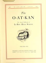 Page 7, 1929 Edition, Le Roy Central School - O At Kan Yearbook (Le Roy, NY) online yearbook collection