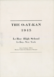 Page 7, 1945 Edition, Le Roy Central School - O At Kan Yearbook (Le Roy, NY) online yearbook collection