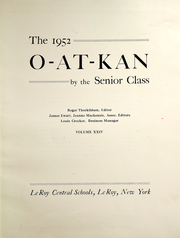 Page 7, 1952 Edition, Le Roy Central School - O At Kan Yearbook (Le Roy, NY) online yearbook collection
