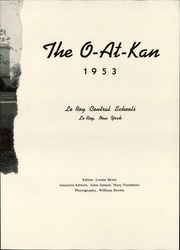 Page 7, 1953 Edition, Le Roy Central School - O At Kan Yearbook (Le Roy, NY) online yearbook collection