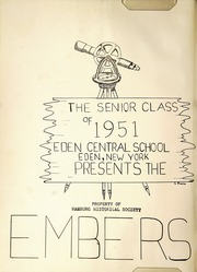 Page 6, 1951 Edition, Eden Central School - Embers Yearbook (Eden, NY) online yearbook collection