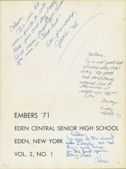 Page 5, 1971 Edition, Eden Central School - Embers Yearbook (Eden, NY) online yearbook collection