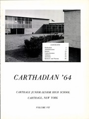 Page 5, 1964 Edition, Carthage Central School - Carthadian Yearbook (Carthage, NY) online yearbook collection