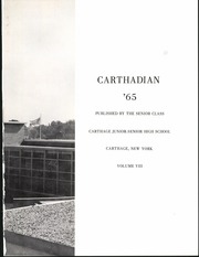 Page 5, 1965 Edition, Carthage Central School - Carthadian Yearbook (Carthage, NY) online yearbook collection