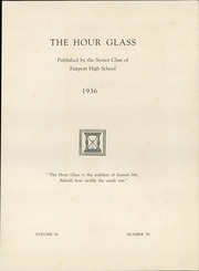 Page 7, 1936 Edition, Fairport High School - Hourglass Yearbook (Fairport, NY) online yearbook collection