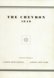 Page 5, 1949 Edition, Albion High School - Chevron Yearbook (Albion, NY) online yearbook collection