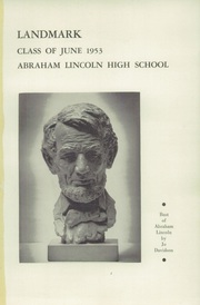 Page 5, 1953 Edition, Abraham Lincoln High School - Landmark Yearbook (Brooklyn, NY) online yearbook collection
