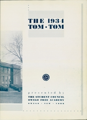 Page 7, 1934 Edition, Owego Free Academy - Tom Tom Yearbook (Owego, NY) online yearbook collection