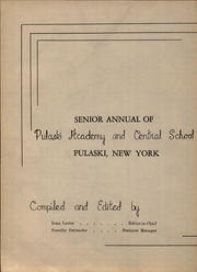 Page 6, 1944 Edition, Pulaski Junior Senior High School - Crimson and Blue Yearbook (Pulaski, NY) online yearbook collection