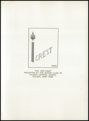 Page 5, 1959 Edition, Wilson Central School - Crest Yearbook (Wilson, NY) online yearbook collection