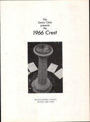 Page 5, 1966 Edition, Wilson Central School - Crest Yearbook (Wilson, NY) online yearbook collection