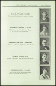 Page 15, 1921 Edition, Newburgh Free Academy - Graduate Yearbook (Newburgh, NY) online yearbook collection
