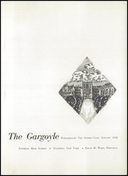 Page 5, 1950 Edition, Flushing High School - Gargoyle Yearbook (Flushing, NY) online yearbook collection