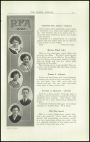 Page 17, 1923 Edition, Rome Free Academy - De O Wain Sta Yearbook (Rome, NY) online yearbook collection