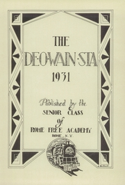Page 5, 1931 Edition, Rome Free Academy - De O Wain Sta Yearbook (Rome, NY) online yearbook collection