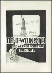 Page 5, 1941 Edition, Rome Free Academy - De O Wain Sta Yearbook (Rome, NY) online yearbook collection