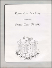 Page 12, 1985 Edition, Rome Free Academy - De O Wain Sta Yearbook (Rome, NY) online yearbook collection