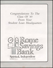 Page 13, 1985 Edition, Rome Free Academy - De O Wain Sta Yearbook (Rome, NY) online yearbook collection
