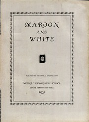 Page 7, 1932 Edition, Mount Vernon High School - Maroon and White Yearbook (Mount Vernon, NY) online yearbook collection