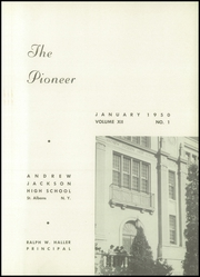 Page 5, 1950 Edition, Andrew Jackson High School - Pioneer Yearbook (Cambria Heights, NY) online yearbook collection
