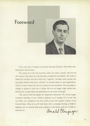 Page 7, 1957 Edition, Andrew Jackson High School - Pioneer Yearbook (Cambria Heights, NY) online yearbook collection