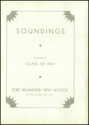 Page 7, 1934 Edition, Port Richmond High School - Soundings Yearbook (Staten Island, NY) online yearbook collection