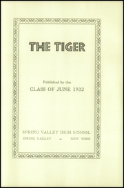 Page 9, 1932 Edition, Spring Valley High School - Tiger Yearbook (Spring Valley, NY) online yearbook collection