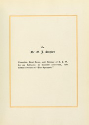 Page 15, 1925 Edition, Philadelphia College of Osteopathic Medicine - Synapsis Yearbook (Philadelphia, PA) online yearbook collection