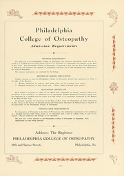 Page 215, 1931 Edition, Philadelphia College of Osteopathic Medicine - Synapsis Yearbook (Philadelphia, PA) online yearbook collection