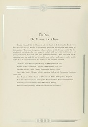 Page 8, 1933 Edition, Philadelphia College of Osteopathic Medicine - Synapsis Yearbook (Philadelphia, PA) online yearbook collection