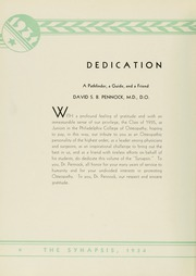 Page 10, 1934 Edition, Philadelphia College of Osteopathic Medicine - Synapsis Yearbook (Philadelphia, PA) online yearbook collection
