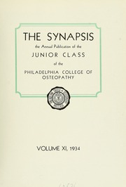 Page 9, 1934 Edition, Philadelphia College of Osteopathic Medicine - Synapsis Yearbook (Philadelphia, PA) online yearbook collection