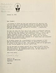 Page 11, 1979 Edition, Philadelphia College of Osteopathic Medicine - Synapsis Yearbook (Philadelphia, PA) online yearbook collection