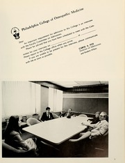 Page 9, 1979 Edition, Philadelphia College of Osteopathic Medicine - Synapsis Yearbook (Philadelphia, PA) online yearbook collection