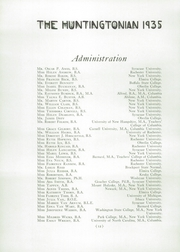 Page 16, 1935 Edition, Huntington High School - Huntingtonian Yearbook (Huntington, NY) online yearbook collection