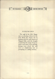 Page 6, 1931 Edition, Niagara Falls High School - Niagarian Yearbook (Niagara Falls, NY) online yearbook collection