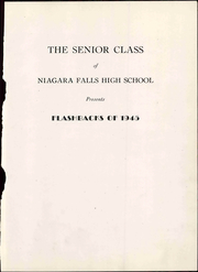 Page 9, 1945 Edition, Niagara Falls High School - Niagarian Yearbook (Niagara Falls, NY) online yearbook collection