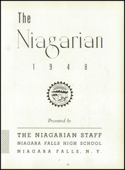 Page 7, 1948 Edition, Niagara Falls High School - Niagarian Yearbook (Niagara Falls, NY) online yearbook collection