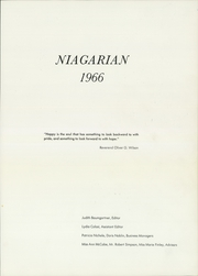 Page 5, 1966 Edition, Niagara Falls High School - Niagarian Yearbook (Niagara Falls, NY) online yearbook collection