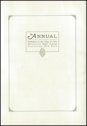 Page 7, 1932 Edition, Watertown High School - Annual Yearbook (Watertown, NY) online yearbook collection