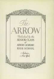 Page 5, 1931 Edition, Auburn High School - Arrow Yearbook (Auburn, NY) online yearbook collection