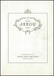 Page 5, 1935 Edition, Auburn High School - Arrow Yearbook (Auburn, NY) online yearbook collection