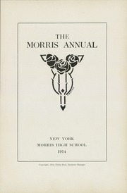 Page 9, 1914 Edition, Morris High School - Yearbook (Bronx, NY) online yearbook collection