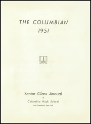 Page 5, 1951 Edition, Columbia High School - Columbian Yearbook (East Greenbush, NY) online yearbook collection