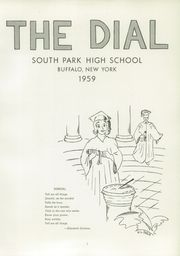 Page 5, 1959 Edition, South Park High School - Dial Yearbook (Buffalo, NY) online yearbook collection